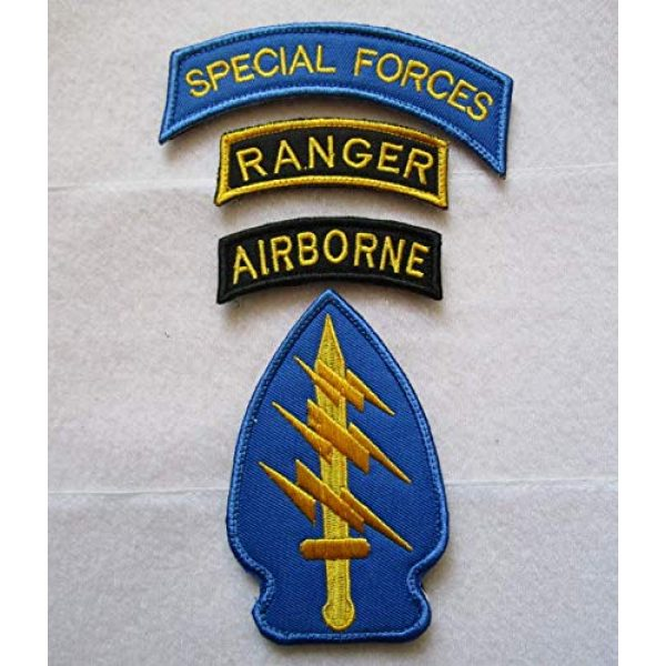 Embroidered Patch Airsoft Morale Patch 1 Special Forces Ranger Airborne 3D Tactical Patch Military Embroidered Morale Tags Badge Embroidered Patch DIY Applique Shoulder Patch Embroidery Gift Patch