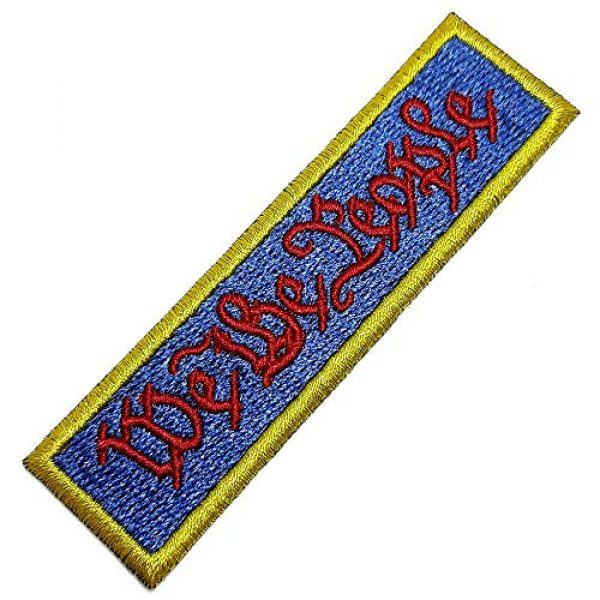 BR44 Airsoft Morale Patch 1 M0142T 01 We The People Tactical Morale Patch USA Emblem Tag Embroidered Patch Iron or Sew
