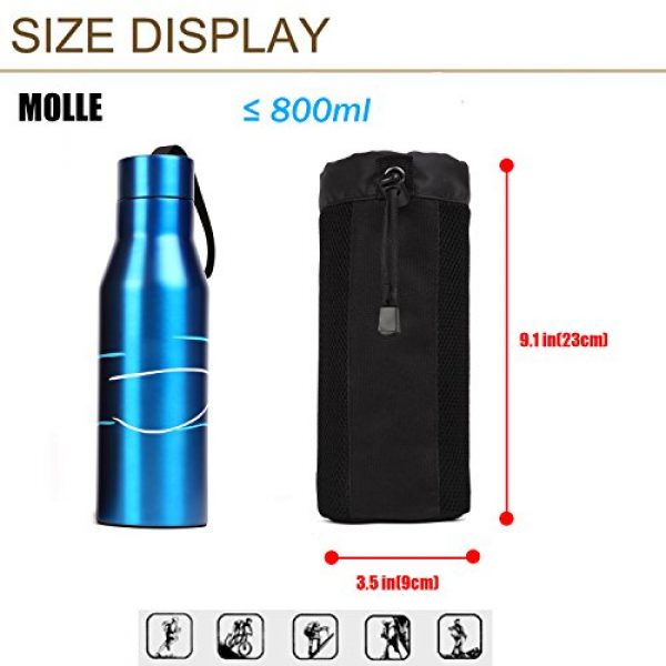 ArcEnCiel Tactical Pouch 5 ArcEnCiel Molle Water Bottle Pouch Tactical Military Mesh Kettle Set Holder Hydration Bag Carrier Pocket for Camping Climbing Cycling Hiking Travelling