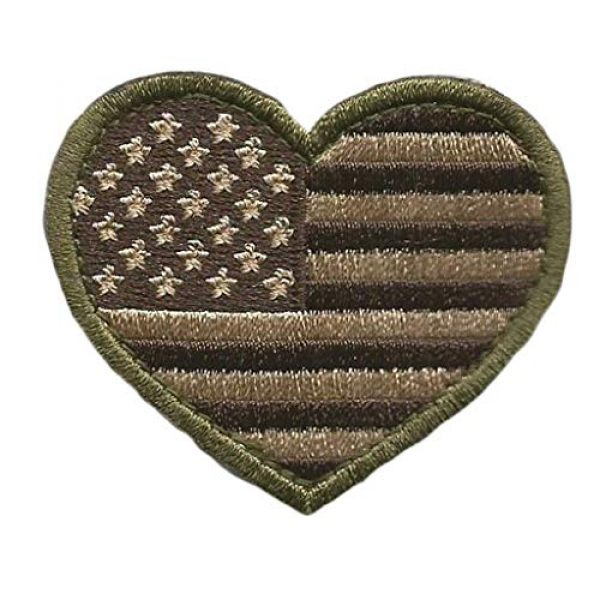Gadsden and Culpeper Airsoft Morale Patch 2 Tactical Heart USA Patch