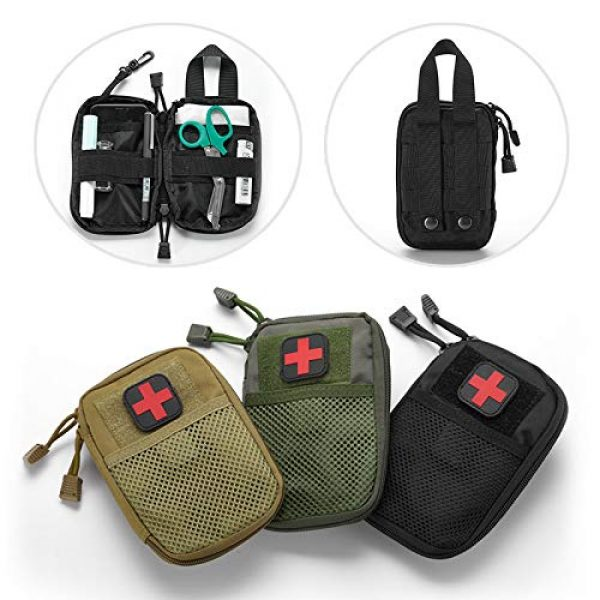 BIHIKI Tactical Pouch 7 BIHIKI Medical Pouch, First Aid Bag Tactical Pouch for Camping Climbing Traveling Outdoor Activities, Bag Only