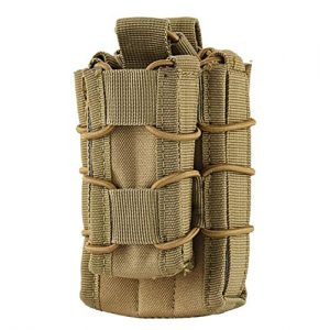 HOUTBY Tactical Pouch 1 HOUTBY Tactical Mag Pouch for MOLLE Compatible Gear Single Rifle Pistol Hunting Outdoor Enthusiasts Magazine Bag Pack of 2