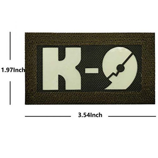 APBVIHL Airsoft Morale Patch 5 Glow Dark Police K9 Unit Service Dog Morale Tactical Infrared IR Reflective Patch - Hook Fastener Backing, 1.97 x 3.54 Inch