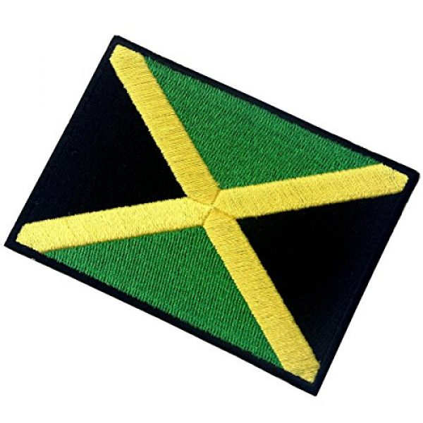 EmbTao Airsoft Morale Patch 4 Jamaica Flag Embroidered Emblem Rasta Jamaican Rastafarian National Iron On Sew On Patch