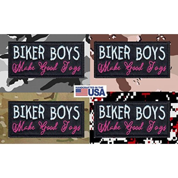 Tactical Patch Works Airsoft Morale Patch 4 Biker Boys Make Good Toys Biker Funny Motorcycle Patch