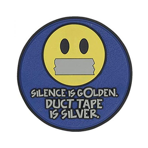 """5ive Star Gear Airsoft Morale Patch 1 5ive Star Gear """"Silence is Golden Round Morale Patch, One Size, Multi-Colored"""