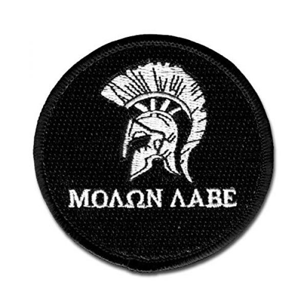 BASTION Airsoft Morale Patch 1 BASTION Morale Patches (Spartan Helmet, BNW)   3D Embroidered Patches with Hook & Loop Fastener Backing   Well-Made Clean Stitching   Military Patches Ideal for Tactical Bag, Hats & Vest