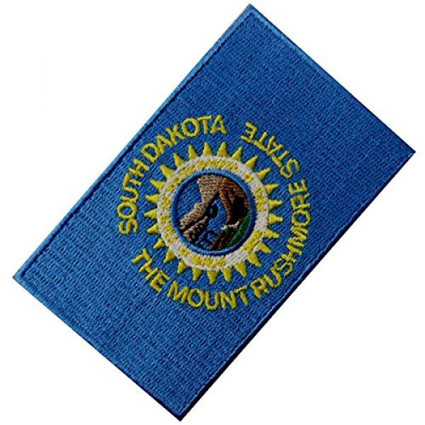 EmbTao Airsoft Morale Patch 3 South Dakota State Flag Embroidered Emblem Iron On Sew On SD Patch