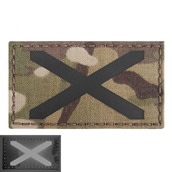 Tactical Freaky Airsoft Morale Patch 4 Multicam Infrared IR Alabama Flag Scotland 3.5x2 IFF Tactical Morale Fastener Patch