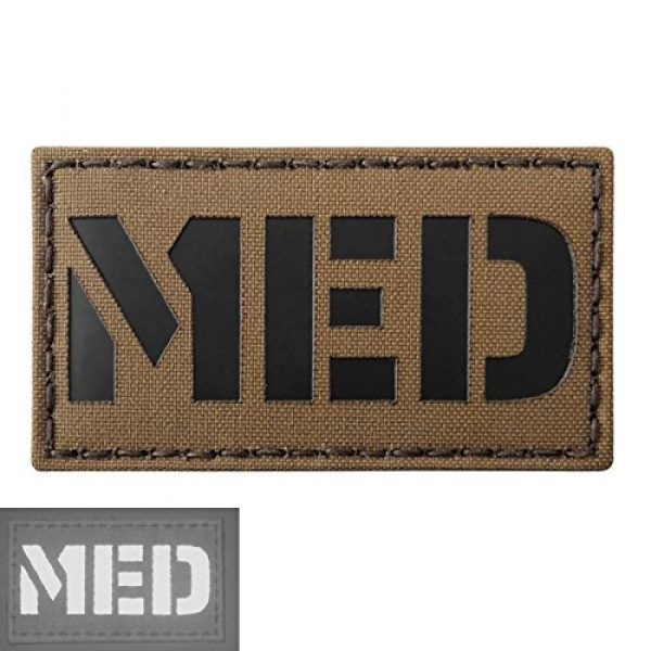 Tactical Freaky Airsoft Morale Patch 3 Coyote Brown Tan Infrared MED Medical EMS 3.5x2 Tactical Morale Hook-and-Loop Patch