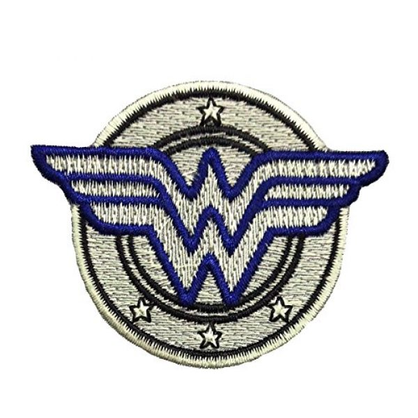 PakedDeals Airsoft Morale Patch 1 PakedDeals Wonder Woman Circle Thin Blue Line Morale Patch Police Law Enforcement Embroidery