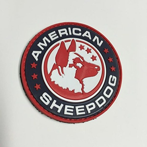 American Sheepdog Airsoft Morale Patch 1 American Sheepdog Logo PVC Morale Patch - Full Color
