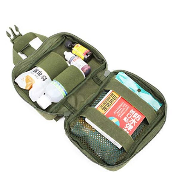 Aoutacc Tactical Pouch 3 Aoutacc Tactical MOLLE Rip Away EMT Medical Pouch, 1000D Nylon Empty IFAK Medical Kit Bag EDC EMT Military First Aid Bag Utility Pouch (Bag Only)