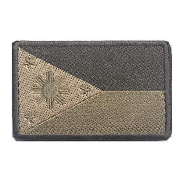 Tactical Embroidery Patch Airsoft Morale Patch 1 Philippines Flag Embroidery Patch Military Tactical Morale Patch Badges Emblem Applique Hook Patches for Clothes Backpack Accessories