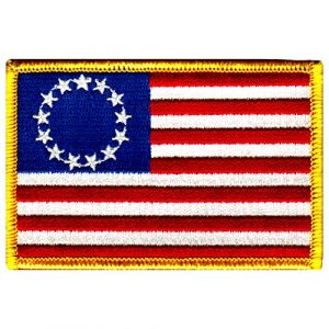Cypress Collectibles Embroidered Patches Airsoft Morale Patch 1 American Flag Embroidered Patch Betsy Ross 13-Stars Iron-On USA United States