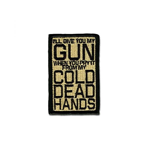 BASTION Airsoft Morale Patch 1 BASTION Morale Patches (Cold Dead Hands, ACU)   3D Embroidered Patches with Hook & Loop Fastener Backing   Well-Made Clean Stitching   Military Patches Ideal for Tactical Bag, Hats & Vest