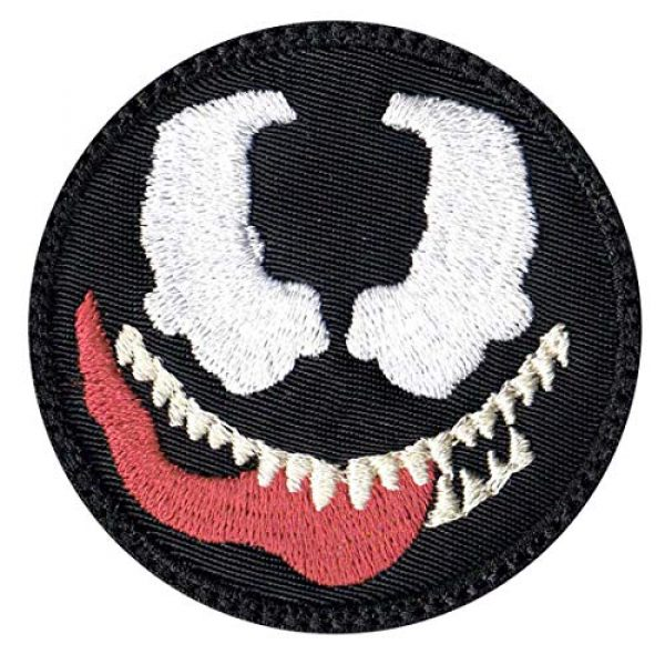 Tactical Patch Works Airsoft Morale Patch 1 Venom Cartoon Simple Head Patch