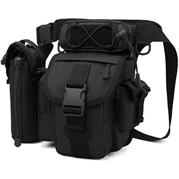 ACOMOO Tactical Pouch 2 ACOMOO Tactical Drop Leg Waist Bag Mens Outdoor Sport Thigh Hip Pack Utility Pouch Black