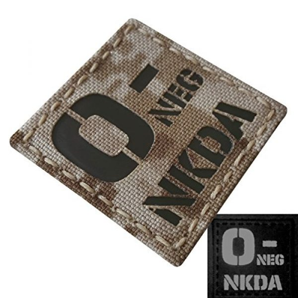 Tactical Freaky Airsoft Morale Patch 4 AOR1 Digital Desert Tan Infrared IR ONEG NKDA O- Blood Type 2x2 Tactical Morale Fastener Patch