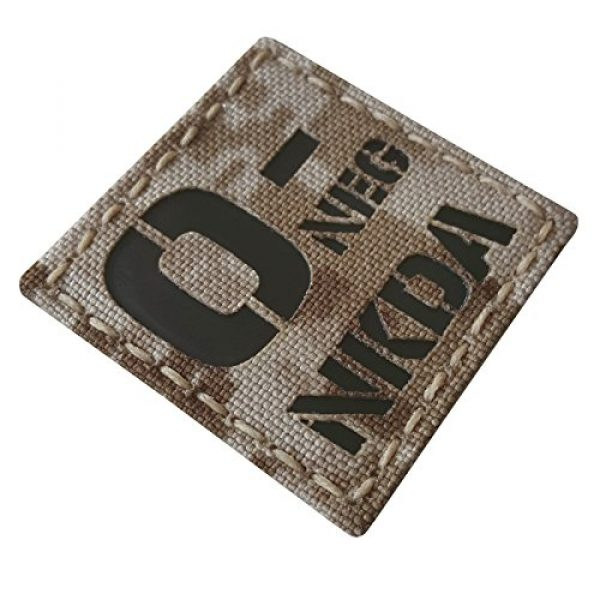 Tactical Freaky Airsoft Morale Patch 5 AOR1 Digital Desert Tan Infrared IR ONEG NKDA O- Blood Type 2x2 Tactical Morale Fastener Patch