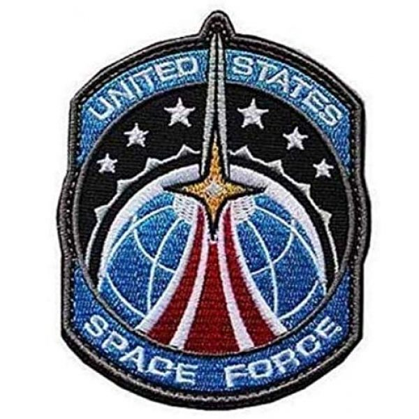Tactical Embroidery Patch Airsoft Morale Patch 1 United States Space Force Embroidery Patch Military Tactical Morale Patch Badges Emblem Applique Hook Patches for Clothes Backpack Accessories