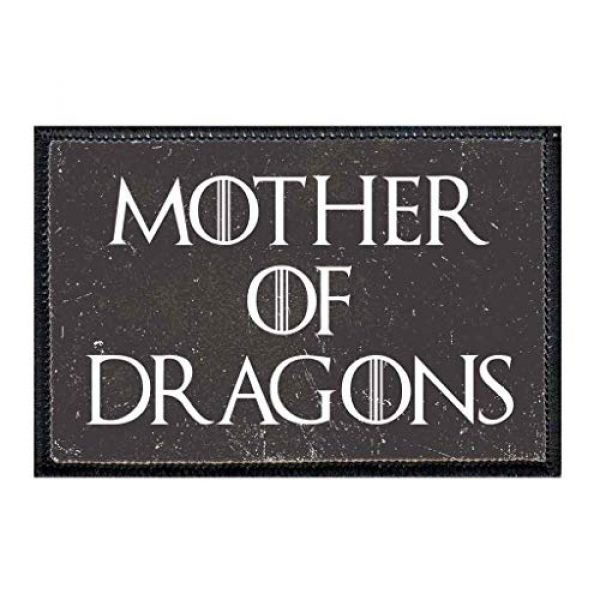 P PULLPATCH Airsoft Morale Patch 1 Mother of Dragons Distressed Morale Patch   Hook and Loop Attach for Hats, Jeans, Vest, Coat   2x3 in   by Pull Patch
