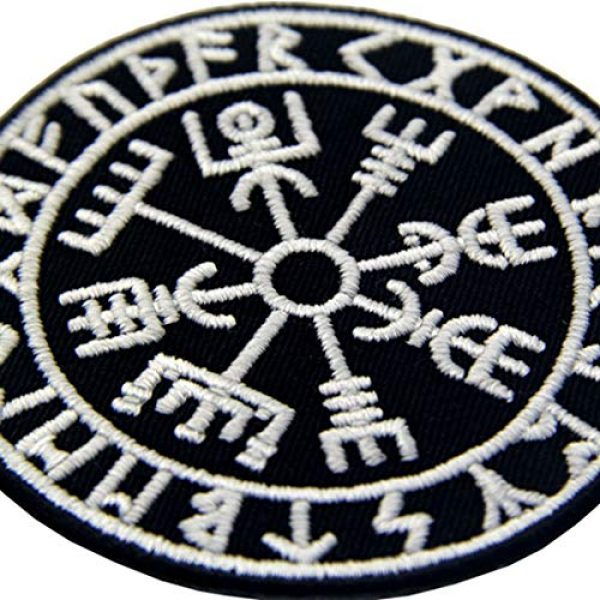 EmbTao Airsoft Morale Patch 4 EmbTao Glow in Dark Vegvisir Viking Compass Norse Rune Morale Tactical Embroidered Applique Fastener Hook&Loop Patch