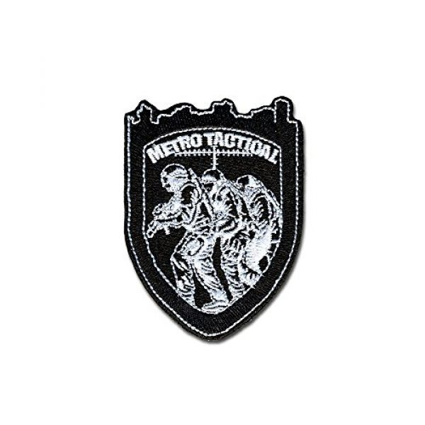 BASTION Airsoft Morale Patch 1 BASTION Morale Patches (Metro Tactical, BNW) | 3D Embroidered Patches with Hook & Loop Fastener Backing | Well-Made Clean Stitching | Military Patches Ideal for Tactical Bag, Hats & Vest