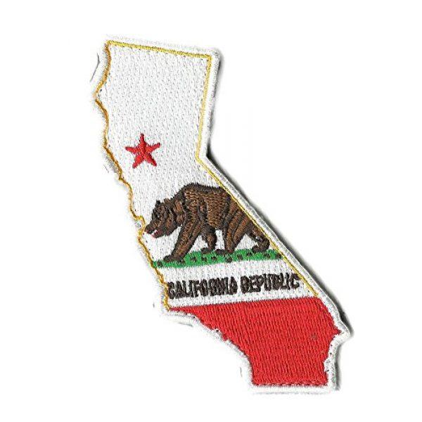 """Gadsden and Culpeper Airsoft Morale Patch 1 Die Cut California State Patch - 1.25"""" x 4.5"""""""