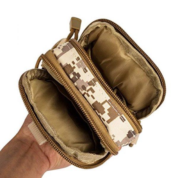 Ailuner Tactical Pouch 4 Tactical Molle Waist Bags, Waterproof Pouch, Universal Men's Outdoor Sport Casual Waist Pack Coin Purse Gear Holster Utility Pouch Phone Case (Desert)