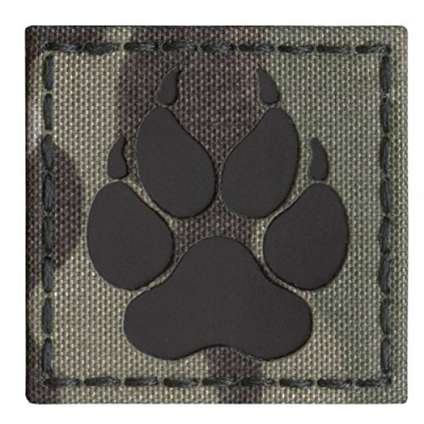Tactical Freaky Airsoft Morale Patch 2 Multicam Infrared IR K9 Dog Handler Paw K-9 2x2 Tactical Morale Hook-and-Loop Patch