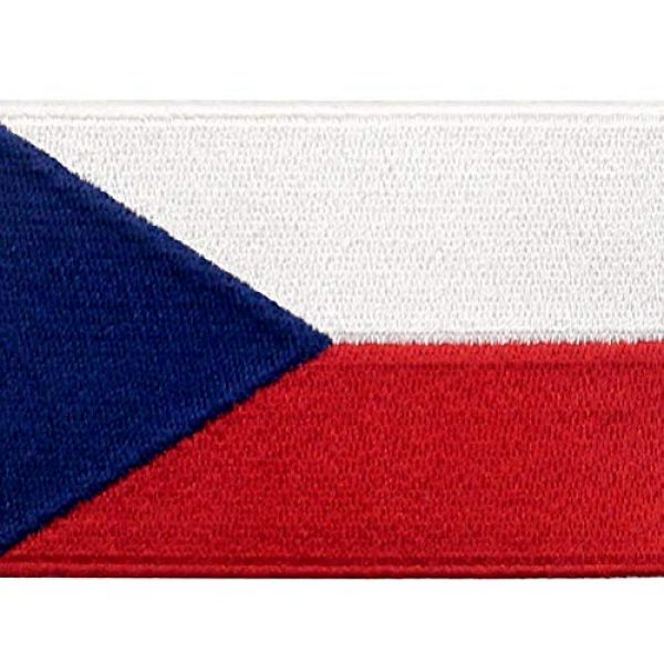 EmbTao Airsoft Morale Patch 2 EmbTao Czech Republic Flag Patch Embroidered Morale Applique Iron On Sew On National Emblem