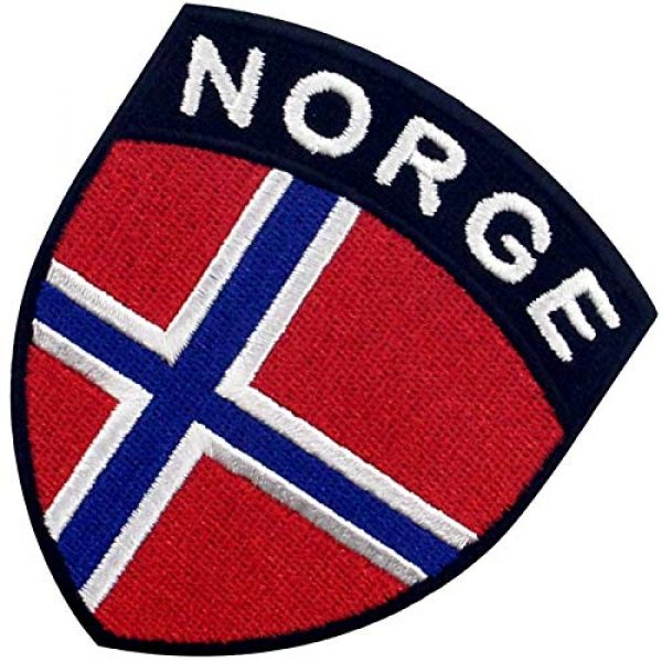EmbTao Airsoft Morale Patch 4 EmbTao Norway Shield Flag Patch Embroidered Applique Iron On Sew On Norwegian National Emblem