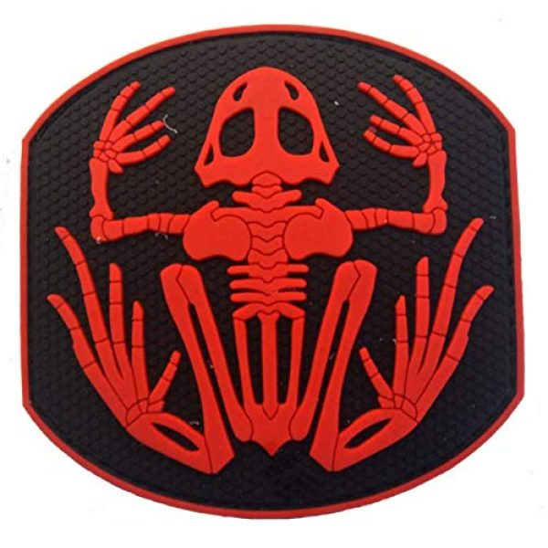 Tactical PVC Patch Airsoft Morale Patch 1 Navy Devgru Seal Team 6 Skeleton Frog Frogman PVC Military Tactical Morale Patch Badges Emblem Applique Hook Patches for Clothes Backpack Accessories