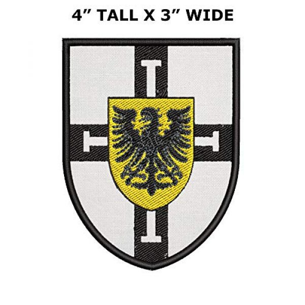 Appalachian Spirit Airsoft Morale Patch 2 Teutonic Shield Tactical Saying Morale Military Tag Embroidered Premium Patch DIY Iron-on or Sew-on Decorative Badge Emblem Gear Clothes Appliques