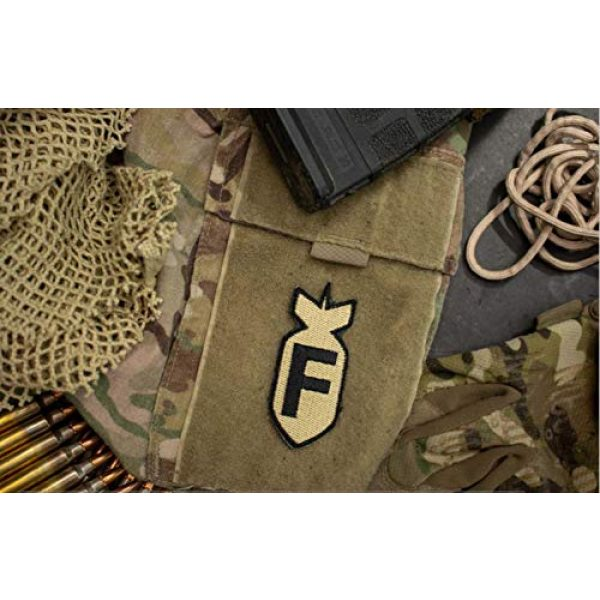 BASTION Airsoft Morale Patch 2 BASTION Morale Patches (F Bomb, ACU)   3D Embroidered Patches with Hook & Loop Fastener Backing   Well-Made Clean Stitching   Military Patches Ideal for Tactical Bag, Hats & Vest