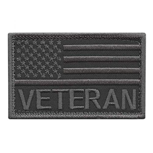 LEGEEON Airsoft Morale Patch 1 LEGEEON Subdued USA American Flag Veteran Vet 2x3.25 Morale Tactical Touch Fastener Patch