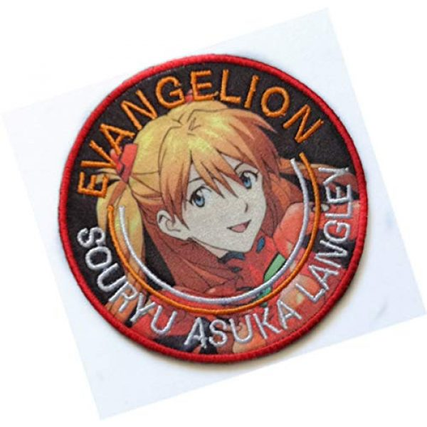 Embroidery Patch Airsoft Morale Patch 2 Japan Anime Evangelion Patch Military Hook Tactics Morale Embroidered Patch Asuka Langley Soryu