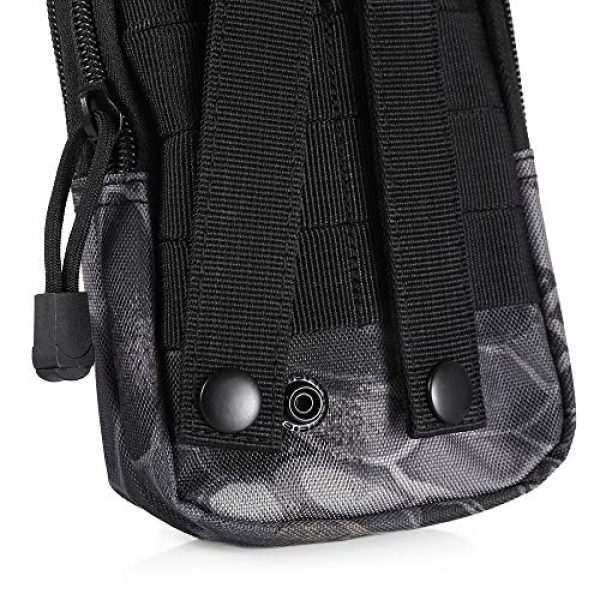AODD Tactical Pouch 7 AODDING Tactical Pouch Bag, Waterproof Outdoor Sports Tactical Molle Waist Bag, Mini Size and Easy to Carry, Strong, Practical, Security Carry Case for Camping Hiking Mountaineering