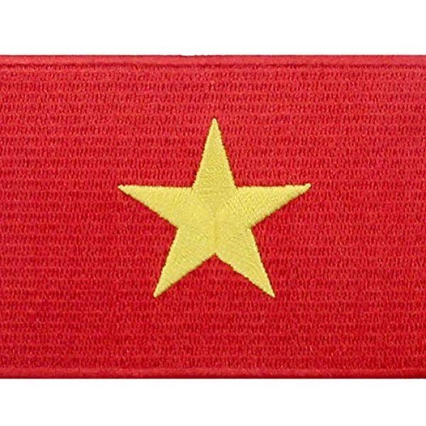 EmbTao Airsoft Morale Patch 2 EmbTao Vietnam Flag Patch Embroidered National Morale Applique Iron On Sew On Vietnamese Emblem