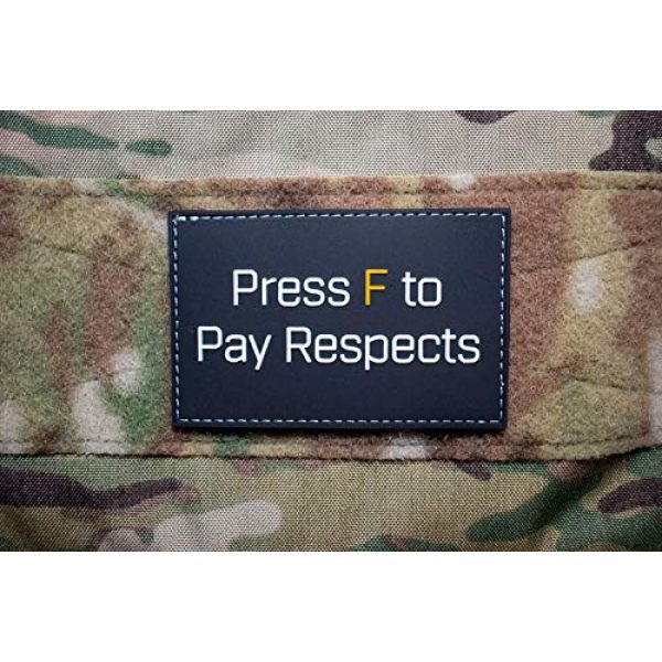 Bitway Tactical Airsoft Morale Patch 5 Bitway Tactical Press F PVC Hook-Backed Morale Patch