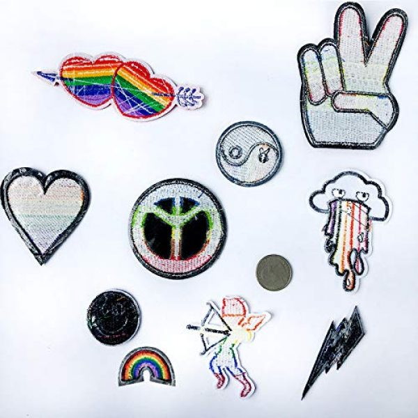 VANVENE Airsoft Morale Patch 7 VANVENE Rainbow LGBT Gay Pride Patches Set,Lesbian Patch Embroidered Morale Emblem Iron On or Sew On Patch Appliques Dress, Plant, Hat, Cap, Jacket, Jeans