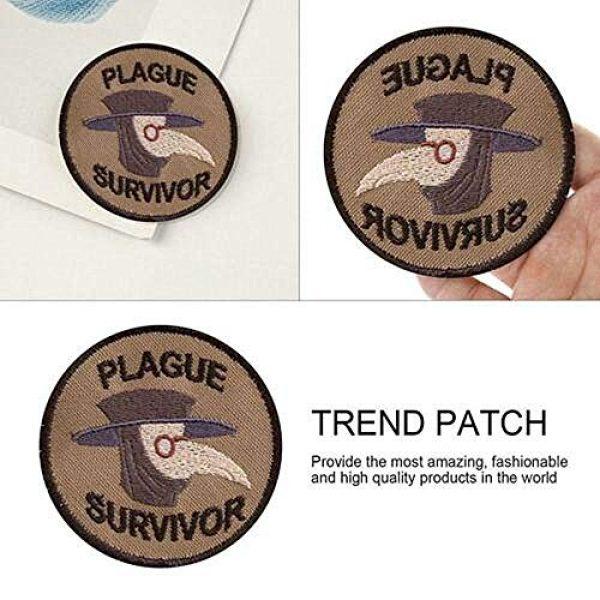 GMYQ Airsoft Morale Patch 5 Plague Survivor Geek Merit Badge Patch, Embroidered Morale Patch