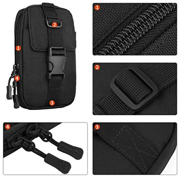 BAIGIO Tactical Pouch 7 BAIGIO Molle Tactical Pouch Phone Holder EDC Pouch Tool Holder Purse Military Belt Pouch