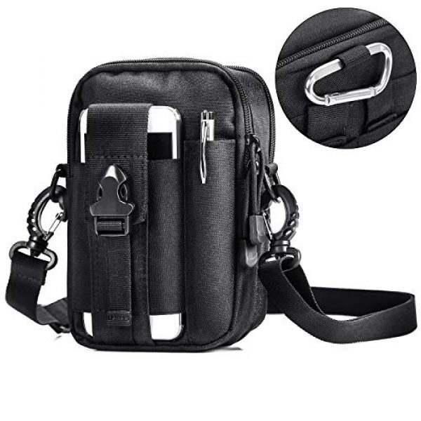 AmHoo Tactical Pouch 1 AmHoo Tactical Molle EDC Pouch Compact Multi Purpose Bag Upgraded Version with Best Double SBS Zippers and Cell Phone Holster Holder for iPhone 6,7,8plus etc