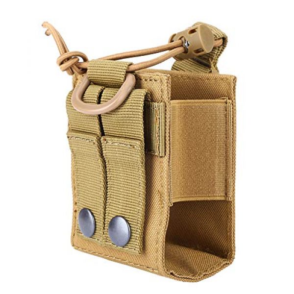 Hoseten Tactical Pouch 2 Durable Radio Holder, Radio Case, Portable Cosplay Tool Camping Bag for Outdoor Sports