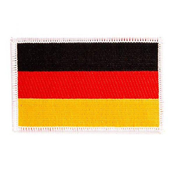 Desert Cactus Airsoft Morale Patch 1 Germany Flag Patch Single 3.5Wx2.25H Iron On Sew Embroidered Tactical Morale Back Pack Hat Bags (Single Patch)