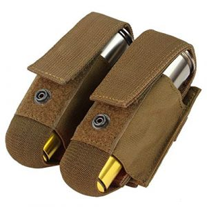 Condor Tactical Pouch 1 Condor Double 40mm Grenade Pouch - Coyote - MA13-498 - New - MOLLE PALS