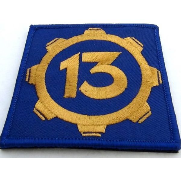 """cosplaypatch Airsoft Morale Patch 2 Vault 13 Fallout Style Patch Cosplay 3""""x3"""" Inches Square Hook and Loop backing"""