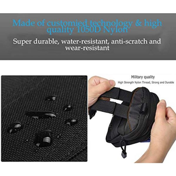 JASLITE Tactical Pouch 3 JASLITE Tactical Molle EDC Pouch, Utility Pouch Bags 1000D Multipurpose Utility Gadget Belt Waist Bag,with Cell Phone Holster Holder, Shoulder Strap